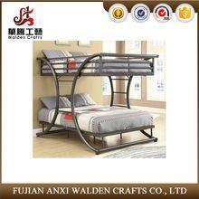 Nuevo diseño de moda gris metal litera doble cama
