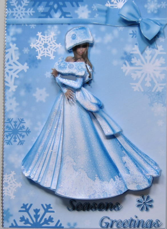 3D Christmas Snow Queen | Cards By Lynn | Pinterest: pinterest.com/pin/68187381828712269