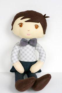 """Criando e Recriando no Artesanato: Estou apaixonada por estes bonecos """"menininhos""""!  ..."""