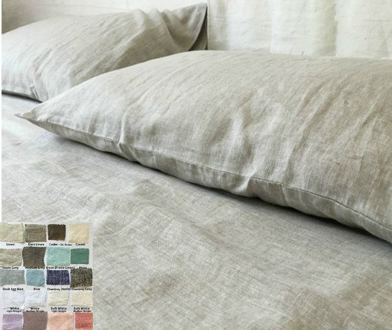 Linen sheet set PICK YOUR COLOR, linen sheets, linen sheet, queen sheet set, king sheet set, linen bedding, over 41 colors and patterns