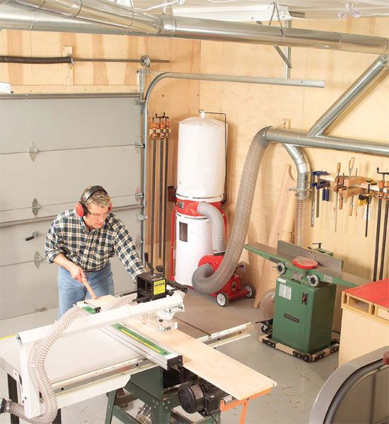 Central Dust Collection | Workshop Ideas | Woodworking ...