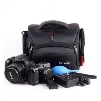 รีบเป็นเจ้าของ  Pot-Bellied Waterproof Camera Case Bag for Canon EOS DSLR 750D 700D650D 600D 1100D 760D 6D 70D 1200D 550D 60D 7D SX60 t5i t6i - intl  ราคาเพียง  712 บาท  เท่านั้น คุณสมบัติ มีดังนี้ New style design for DC/DSLR camera, High quality, Light anddurable, Nylon construction To protect your camera against damages, dust and scratches withits tough and durable foam exterior and its padded anti-shockinterior. Enough space and pockets to store your accessories , eg :filters, battery…