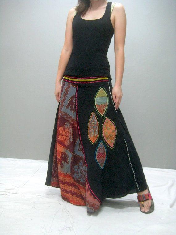 Gypsy skirt 291.5 by thaitee on Etsy, $45.00