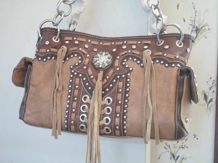 Western cowgirl purse, Conceal Carry ,handbag , purse leather fringe Brand New