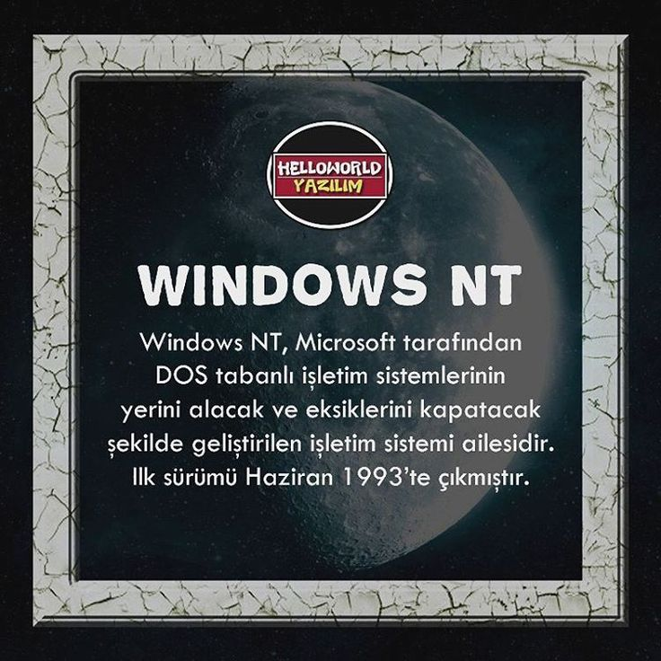 Windows NT? #WindowsNT  Kaynak : tr.wikipedia.org   Gönderilerinizi hesabımızı etiketleyerek ya da #helloworldyazilim etiketi ile bizimle paylaşabilirsiniz   #yazilim #programlama #gamer #csharp #coding #technology #java #css #apple #javascript #android #php #webdevelopment #webdeveloper #developer #develop #programmer #programmers #programmerlife #instacode #coder #code #coffee #asus #design #designer #designers #yazilimci