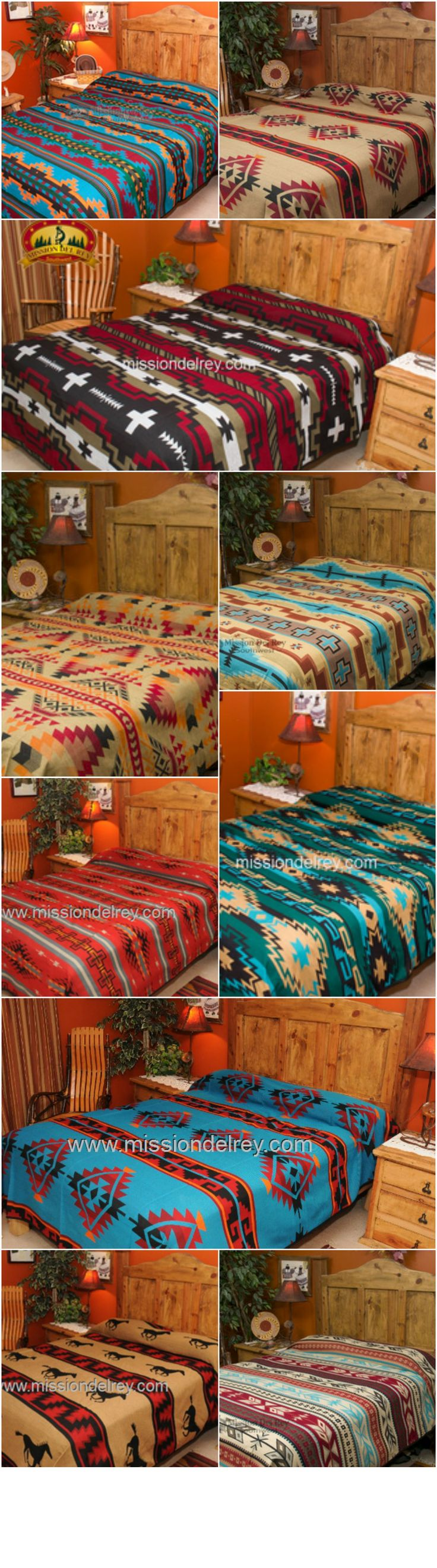 Get your home ready to welcome family and friends this holiday season with our beautiful southwestern bedspreads and western bedding collection! Our popular bedspreads are fully reversible, and come in TWIN, QUEEN, and KING size. Choose from a wide variety of designs and colors to match your decor and color scheme. See more of our fabulous southwest and western bedding at http://www.missiondelrey.com/southwestern-bedspreads/
