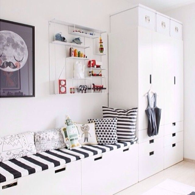 banquette et armoire dans chambre d 39 enfant ocuk odas pinterest childs bedroom nooks and. Black Bedroom Furniture Sets. Home Design Ideas