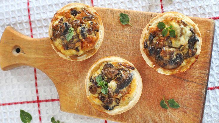 Mini mushroom & broccoli quiches