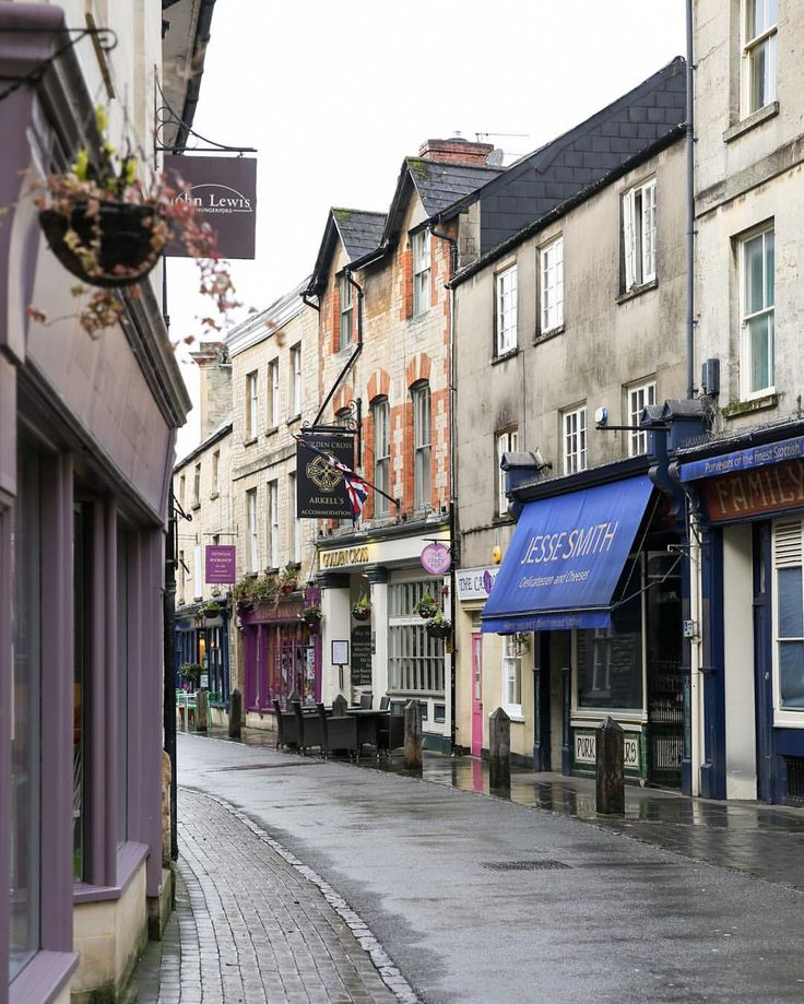Black Jack Street in Cirencester, Cotswolds, England