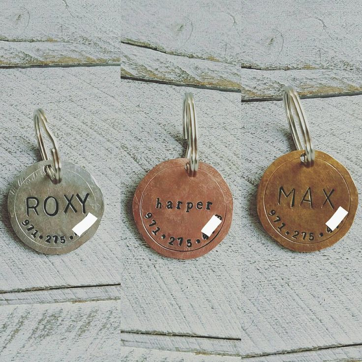 Pet dog tag, dog ID Tag, pet dog ID tag, puppy tag, Handstamped dog ID Tag, dog tag for dogs, Copper Dog Tag, Bronze Dog Tag, Silver Dog Tag by ShopLemonTree on Etsy https://www.etsy.com/listing/559677089/pet-dog-tag-dog-id-tag-pet-dog-id-tag