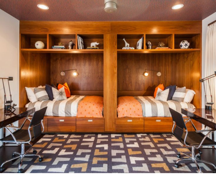 This Is The Perfect Shared Bedroom For Preteen/teen Boys. Their Own Beds,