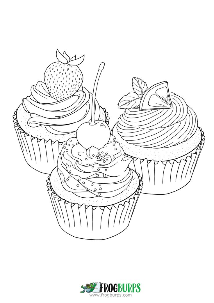 Cupcakes | Coloring Page