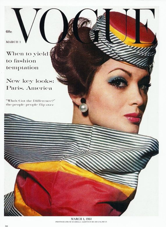 Vogue Magazine Cover Wall Art Illustration by AnnesAccumulations