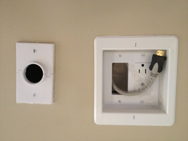 Planning on a TV above your fireplace? Add a recessed plug and conduit to run your cables.