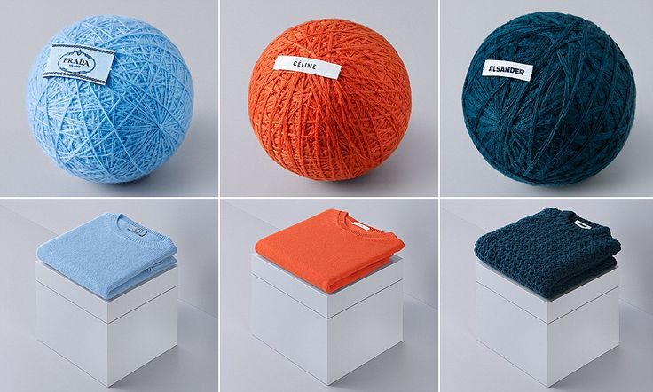 Artists unravel $1,300 designer sweater until it's just a ball of wool #DailyMail