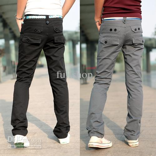 Wholesale D317B17 FASHION Korean cotton Solid color low-key design style Men's Casual pants, Free shipping, $28.34-30.68/Piece | DHgate