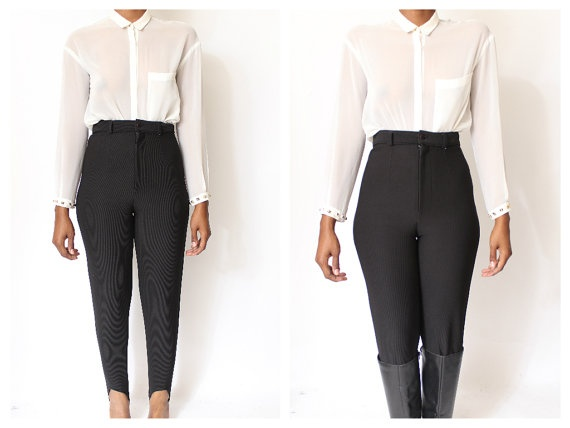 High waisted pants on etsy