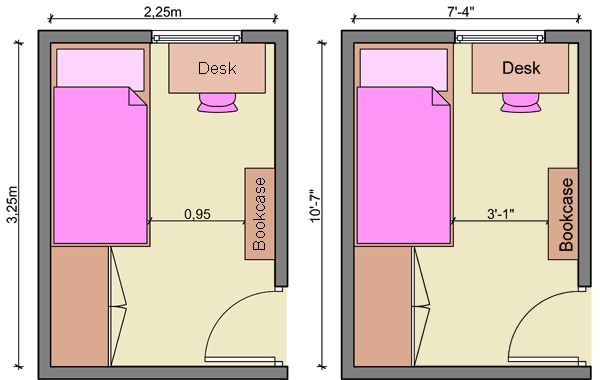 25 best ideas about small desk bedroom on pinterest for Long narrow office layout