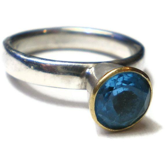 An+der+See+-+blauer+Topas+in++925er+Silber+von+Kalicat+Silber+und+Gold+Schmuckdesign+auf+DaWanda.com