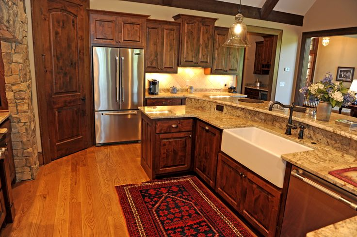 Custom Cabinets Quot West Lake Quot Door Style In Knotty Alder