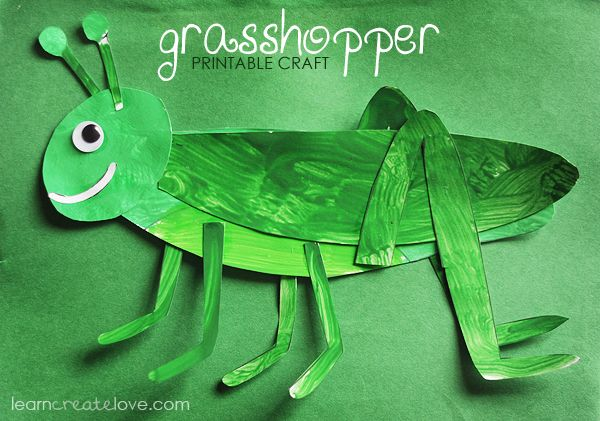 { Printable Grasshopper Craft } and more little animals