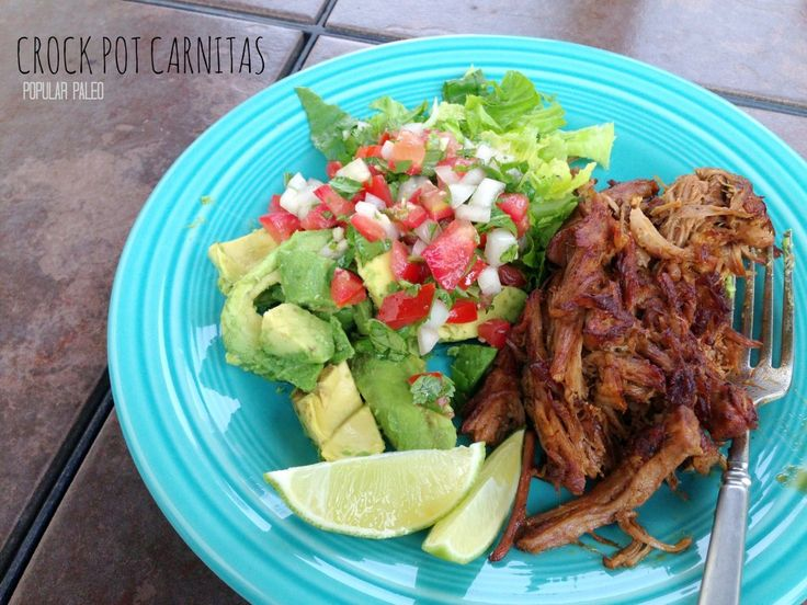 Paleo Crock Pot Carnitas on www.PopularPaleo.com | Grain, gluten, soy and sugar free carnitas made in your slow cooker!
