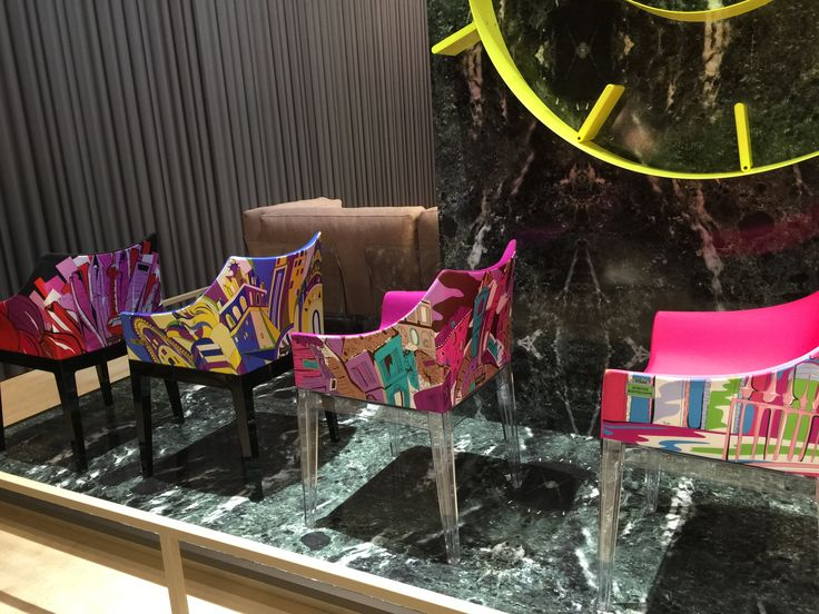 Philippe Starck's Madame chair for @kartelldesign has been dressed by Emilio Pucci!