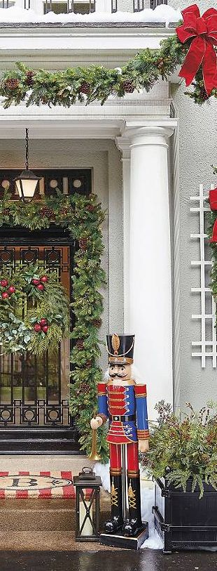 Deluxe Outdoor Greenery | Christmas Decorating Ideas
