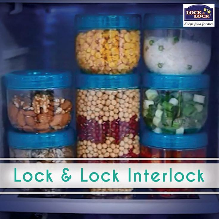 Lock & Lock Interlock with its unique mechanism helps you to stack the containers at your refrigerator door pockets and reduce space wastage!