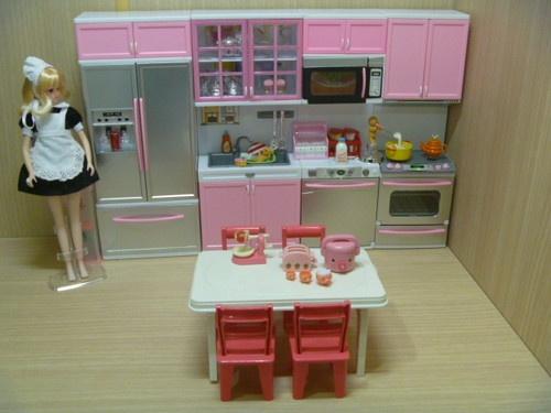 Barbie Dolls Hello Dreamhouse Dollhouse W Kitchen: MODERN COMFORT Barbie Kitchen RE-MENT Cabinet Size