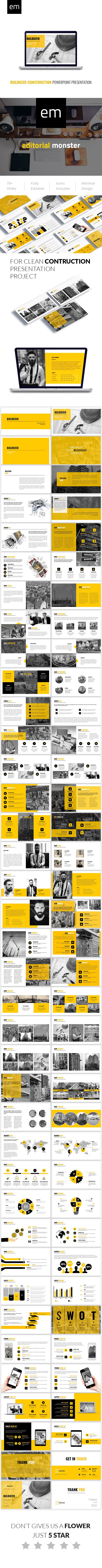 25 beautiful business powerpoint presentation ideas on pinterest buldozer construction powerpoint presentation toneelgroepblik Gallery