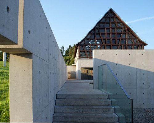 Best Das kleinteilige Fachwerk am Steinskulpturenmuseum in Bad M nster ist mit Glas ausgefacht Architekt Tadao