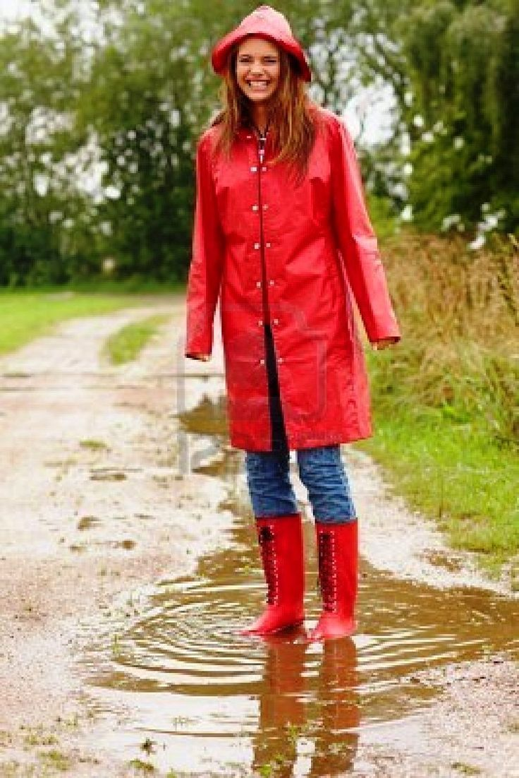 Red pvc mac hat and boots | rukkas and other raincoats ...