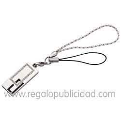 Memorias USB con autenticas piedras de Swarovski. Artículo perfecto para regalar. Capacidad de 2GB.