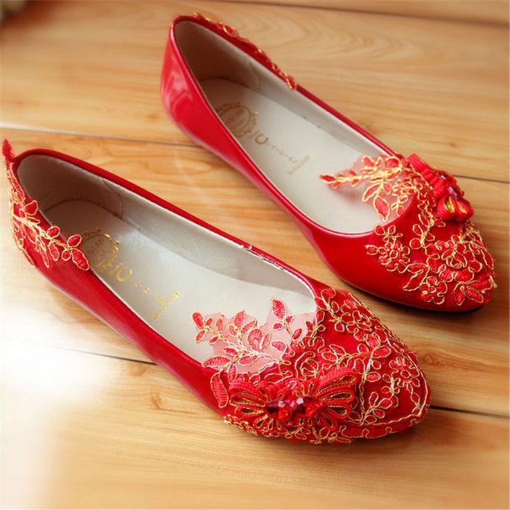$21.00 (Buy here: https://alitems.com/g/1e8d114494ebda23ff8b16525dc3e8/?i=5&ulp=https%3A%2F%2Fwww.aliexpress.com%2Fitem%2FRed-Women-Wedding-Shoes-Bride-Flats-Lace-Low-top-Crystal-Rhinestone-High-Heels-Hot-Foral-Butterfly%2F32692696104.html ) New Red Women Wedding Shoes Bride Flats Lace Low top Crystal Rhinestone Classic Foral Butterfly Fashion Dress Shoes Lady Shoes for just $21.00