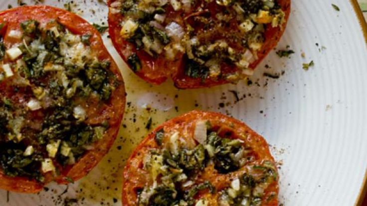 Looking for a recipe to use up all those giant, gorgeous tomatoes from your garden? Look no further. This recipe from Foodista.com puts them to use by stuffing them with an incredible herb and chee...