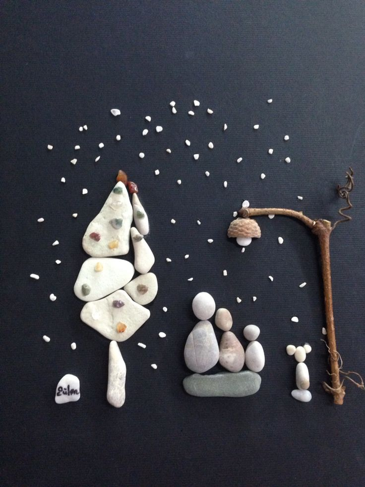 As if you needed an excuse to go to the beach... beach pebbles and stones become art.