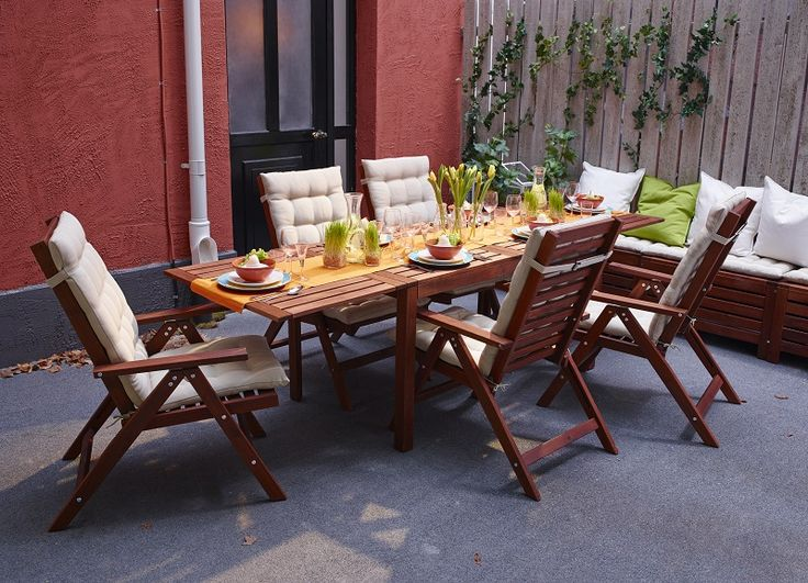 APPLARO τραπέζι με πτυσσόμενο φύλλο, APPLARO πολυθρόνα με ρυθμιζόμενη πλάτη