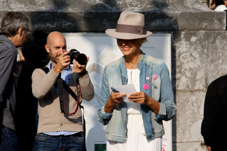 Denim and trilby  Paris Fashion Week Streetstyle, by Lois Spencer-Tracey of Bunnipunch