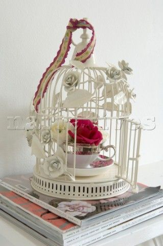 Image detail for -CR0089: Decorative ornamental wirework bird cage wit - Narratives ...