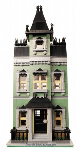 Mansard Row House - Modular Building: A LEGO® creation by Brian Lyles : MOCpages.com