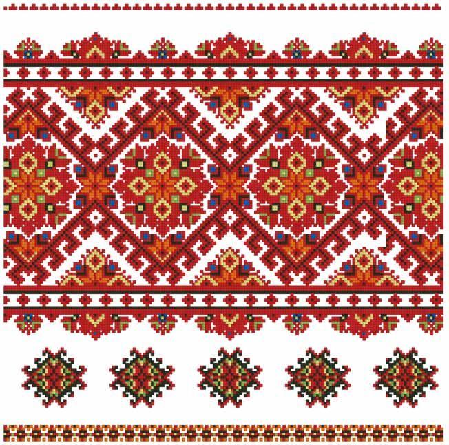 схема большая украинская вышивка