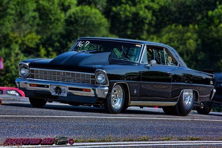 '67 Chevy Nova. Always sweet with big tires & perfect stance