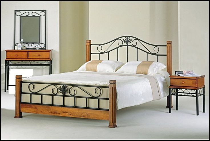 35 best images about brass bed search on pinterest for Wrought iron and wood bedroom sets