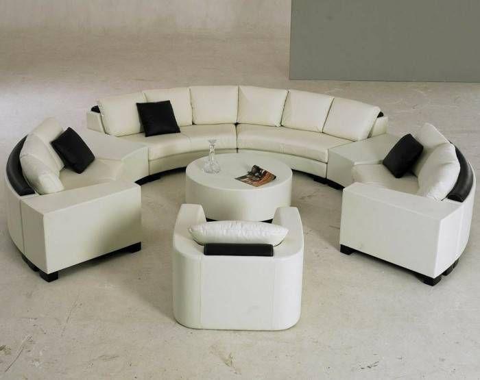 Canape Cuir Blanc Conforama Le Canape D Angle Arrondi Ment Choisir La Meilleure In 2020 Round Sofa Circle Sofa Living Room Sets Furniture