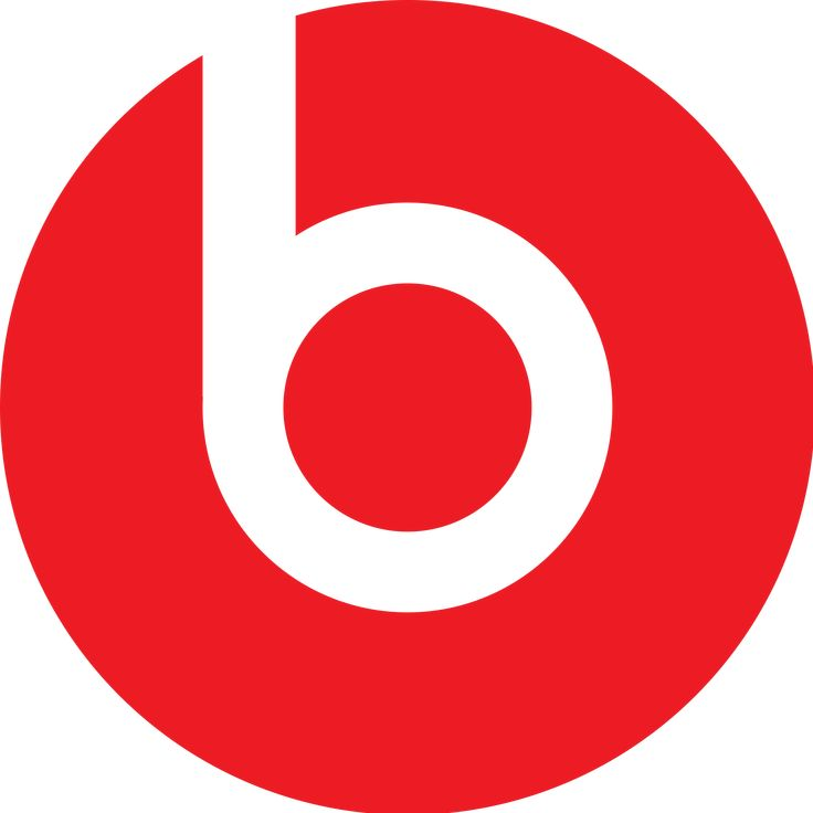 (Dr Dre Beats Logo) The positive space looks like a bullseye and the negative space looks like a b.