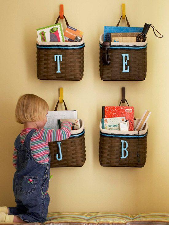 storage for kiddos-In coat closet
