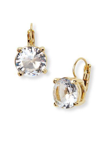 diamond studs or lever back earrings kate spade new york round earrings