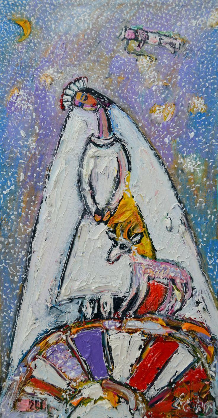 Невеста с козочкой х.м. 24х46 29 т.р