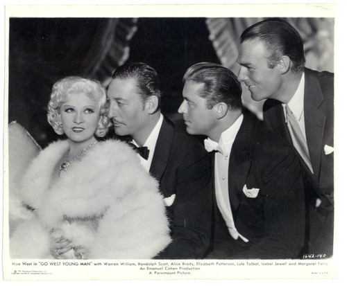 Mae West, Randolph Scott, Warren William 1936. Mae was Perfect. Why hasn't anyone made a biopic about her?